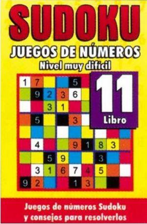 SUDOKU 11. JUEGOS DE NUMEROS NIVEL MUY DIFICIL