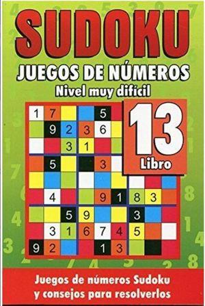 SUDOKU 13. JUEGOS DE NUMEROS NIVEL MUY DIFICIL