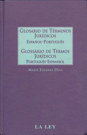 GLOSARIO DE TERMINOS JURIDICOS ESPAÑOL PORTUGUES / PD.