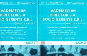 VADEMECUM DIRECTOR SA SOCIO GERENTE SRL. LIBRO 1 SOCIETARIO / 2 TOMOS