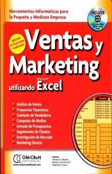 VENTAS Y MARKETING UTILIZANDO EXCEL (INCLUYE CD)