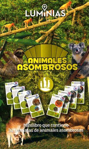 ANIMALES ASOMBROSOS. MINILIBRO CON 32 TARJETAS