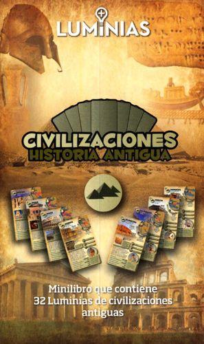CIVILIZACIONES HISTORIA ANTIGUA. MINILIBRO CON 32 TARJETAS