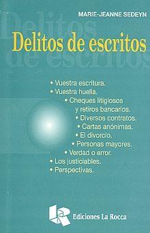 DELITOS DE ESCRITOS
