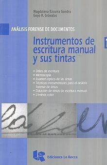 INSTRUMENTOS DE ESCRITURA MANUAL Y SUS TINTAS