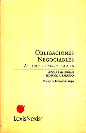 OBLIGACIONES NEGOCIABLES. ASPECTOS LEGALES Y FISCALES
