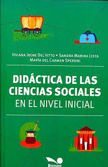 DIDACTICA DE LAS CIENCIAS SOCIALES EN EL NIVEL INICIAL