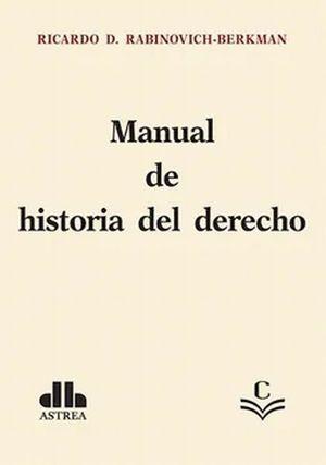 Manual historia del derecho
