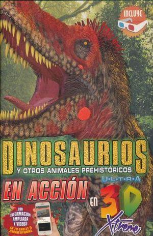 DINOSAURIOS Y OTROS ANIMALES PREHISTORICOS EN ACCION EN 3D / PD. (INCLUYE LENTES)