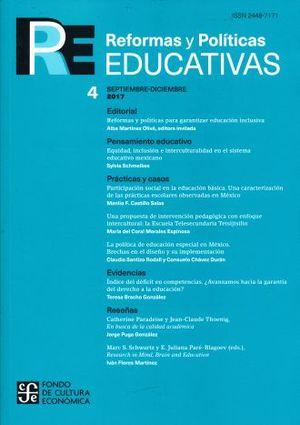 REFORMAS Y POLITICAS EDUCATIVAS 4. SEPTIEMBRE - DICIEMBRE DE 2017