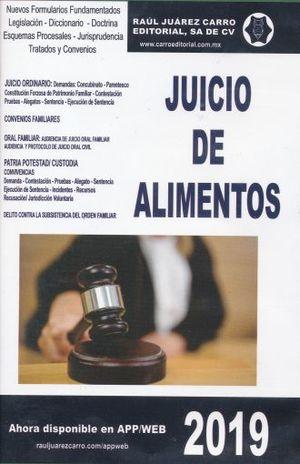 JUICIO DE ALIMENTOS 2019 (CD ROM)