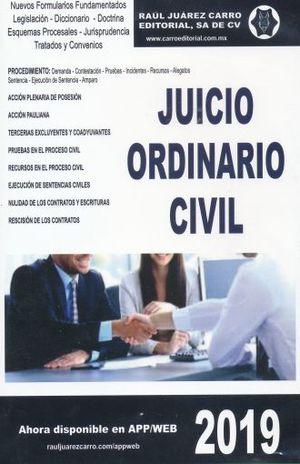 JUICIO ORDINARIO CIVIL 2019 (CD ROM)