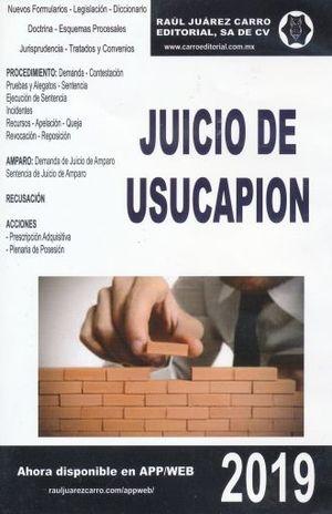 JUICIO DE USUCAPION 2019 (CD ROM)