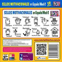 Sellos Motivacionales En Español Modelo 2 12 Pzas