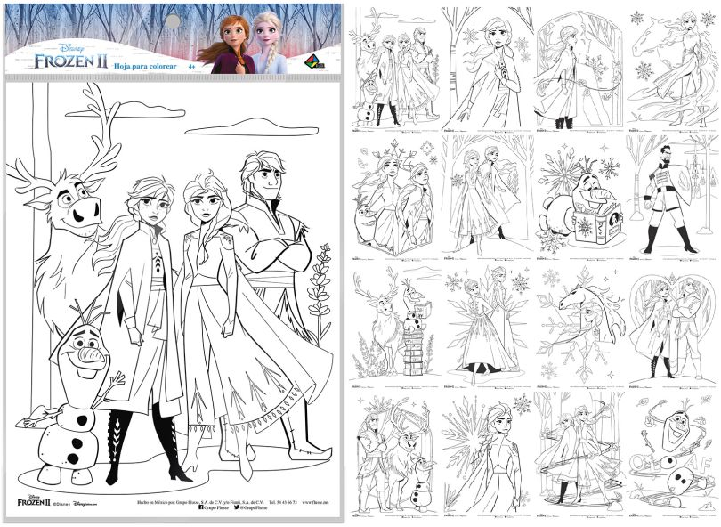 Hoja Para Colorear Frozen 2 Libreria El Sotano