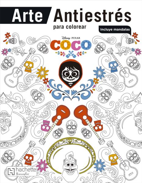Arte Antiestres Para Colorear Coco Disney Libro En Papel