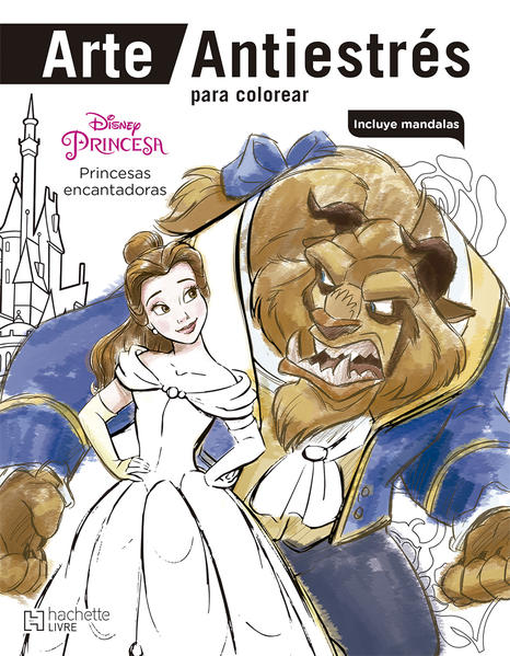 Arte Antiestres Para Colorear Disney Princesa Princesas Encantadoras Incluye Mandalas