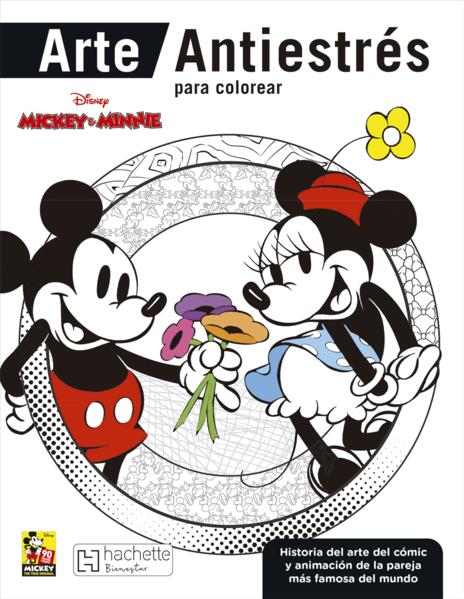 Mickey Minnie Arte Antiestres Para Colorear
