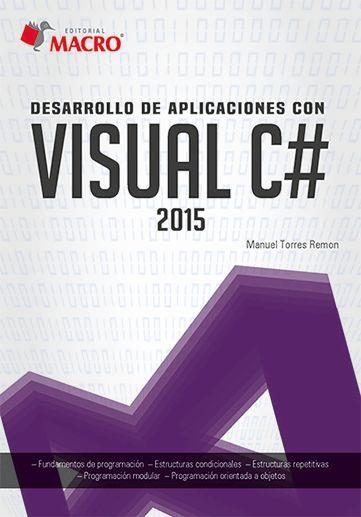 Resultado de imagen para Desarrollo de aplicaciones con Visual C# portada libro