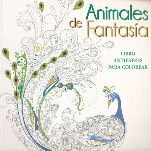 Animales De Fantasia Libro Antiestres Para Colorear