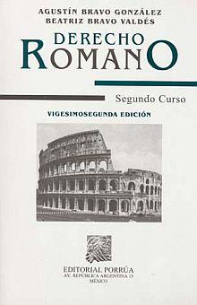 derecho romano segundo curso agustin bravo gonzalez pdf gratis